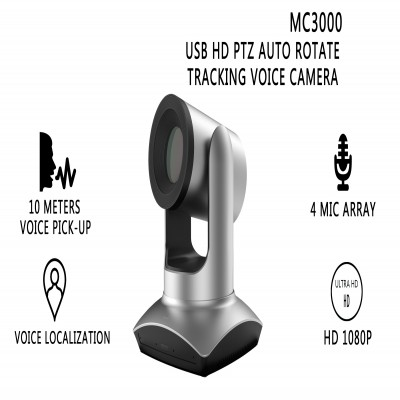 MC3000 USB HD PTZ Auto Rotate Tracking Voice Camera